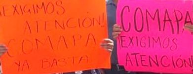 Bloquean calle contra la Comapa panista de Victoria, por fuga de aguas negras en el centro