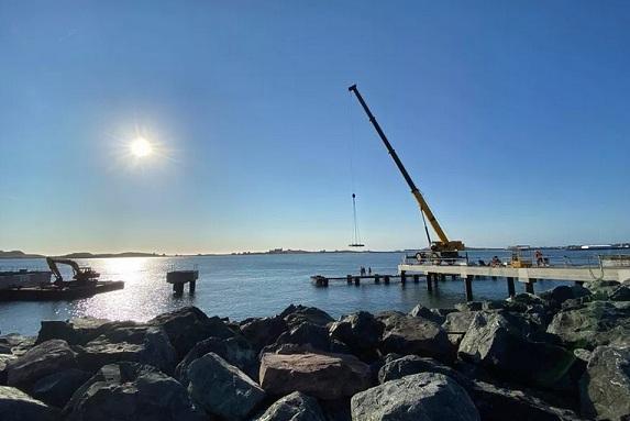 Está retrasado el astillero de la Terminal de cruceros de San Pedro y Miquelón