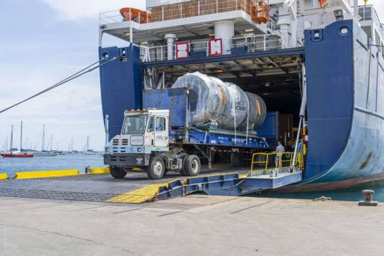 llegada a San Bartolome, nuevo horno de conversión de residuos en energía